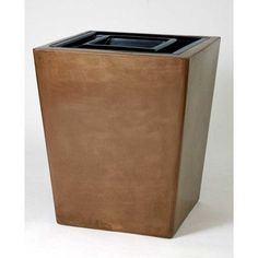 Allied Molded Products St. Louis 30-Gal Receptacle Waste Basket Color: Gray