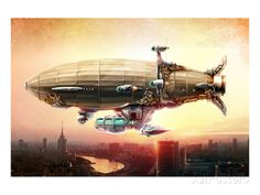 Graf Zepplin Fantasy Dirigible Posters - AllPosters.co.uk