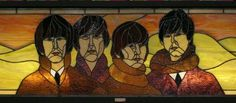 Beatles stained glass found in L.A. bookstore.  Name the bookstore?