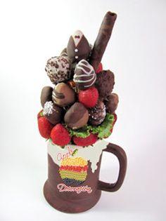 una tazita de fresas con chocolate?  solo en www.appledecoracion.com.mx