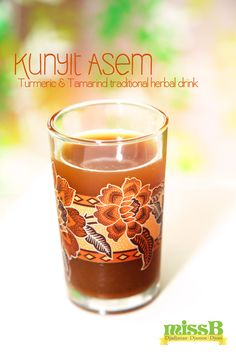 Kunyit Asem is a traditional herbal drink made from fresh turmeric and tamarind, famous Javanese recipe for women's beauty and health