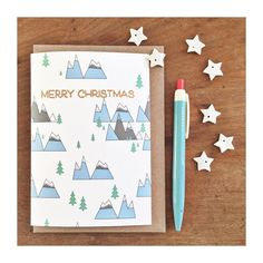 Christmas card no. 2 is getting embossed today! Now available in my shop link in profile! #christmascard #onmytable #christmastime