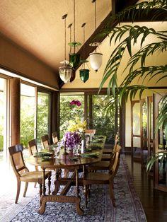 Beautiful Cheryl Tiegs British Colonial Inspired Dining Room By Martyn Lawrence Bullard Design