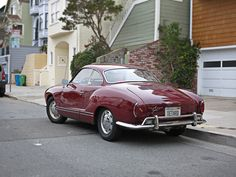 Karmann Ghia from 1969 on the streets of SF