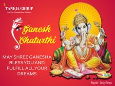 May Lord Ganesha Destroys your sorrows Enhances your happiness And create goodness all around you Happy Ganesh Chaturthi!