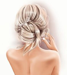 Fashion Illustration Sketches, Fashion Sketches, Art Sketches, Illustration Artists, Girly Drawings, Jolie Photo, How To Draw Hair, Digital Portrait, Cartoon Art