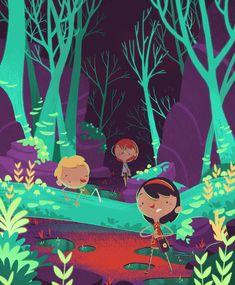 "Illustrations for the children's book ""O Incrível... | Jovan de Melo"