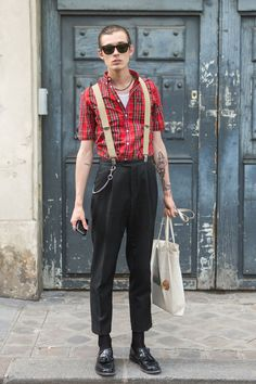 Street style looks from Paris Fashion Week by www.models.com