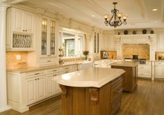 Venice Biscuit Paint with Mocha Glaze - 1900 Series Kitchens - Bellmont Cabinet Co.