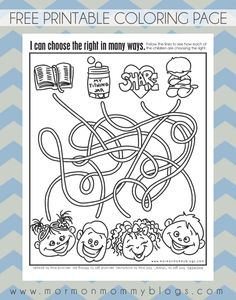 mormon mommy printables ctr activity sheet and coloring page - Choose The Right Coloring Page