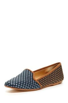 patchwork print loafers