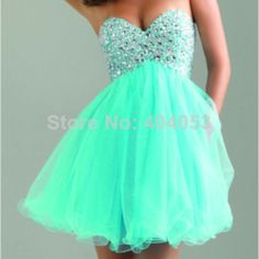 Short Homecoming Dresses ,Mint Tulle Homecoming Dress, Empire Waist Rhinestones Homecoming Dresses,Fluffy Skirt Short Prom Dresses Cocktail Dresses,Short Wedding Party Gowns For Sweet 16 Dresses Blue Homecoming Dresses, Cute Prom Dresses, Dance Dresses, Pretty Dresses, Beautiful Dresses, Dress Prom, Sequin Dress, Sparkly Dresses, Homecoming Dance