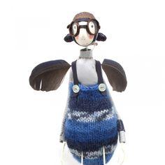 Brain's Bottom Warming Garments for fairies - Samantha Bryan Sculpture - Fenwick Gallery