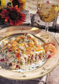 @Vanessa Emile Anson- To my pescetarian to be - Creamy Seafood Lasagna -- best thing ever and sooooo easy to make!