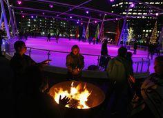 Gallivan Center ice rink