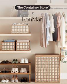 Container Store, Closet Storage, Closet Organization, Kitchen Organization, Kitchen Storage, Organization Ideas, Suit Hangers, Metal Hangers, Marie Kondo