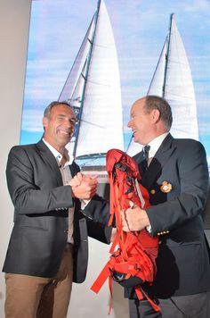 Pierre Casiraghi et son épouse Beatrice Borromeo ont visité le Pangaea amarré à Monaco avant le départ de Mike Horn pour son expédition Pole2Pole.