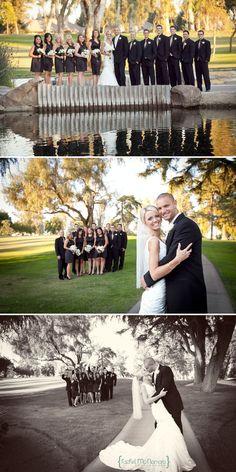 Bridal Party Photos - Golf Course Wedding