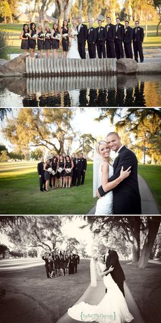 Bridal Party Photos - Golf Course Wedding
