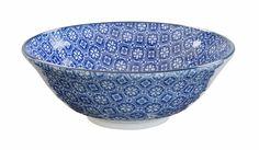 Bol Nippon Blue Soba Bol Fleur 21x7.8cm 1.1l
