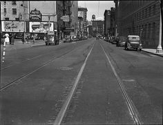 McAllister Street, looking east from Hyde Street. Places In California, California History, San Francisco City, San Francisco California, San Francisco Earthquake, Urban Life, City Streets, Old Pictures, Golden Gate