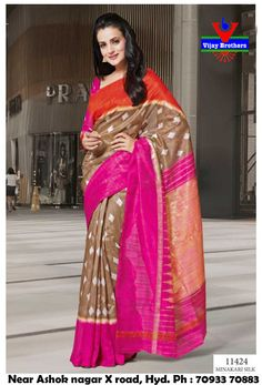 Silk with Digital printed work saree