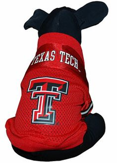 Red texas tech double t pet jersey from red raider outfitters 30 more