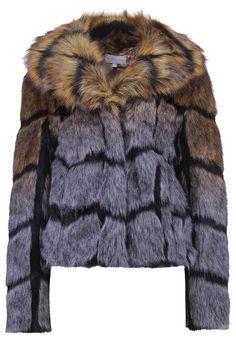 Purple fake fur jacket