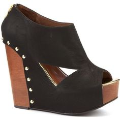 Vivian likes these Chinese Laundry Black Cut Out Session Wedges