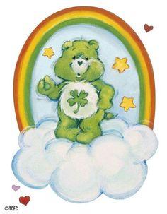 cartoons party Care Bears: Good Luck Bear with - Vintage Cartoon, Cartoon Art, Care Bear Tattoos, Care Bears Vintage, Care Bear Party, Cartoon Tattoos, Rainbow Brite, 90s Cartoons, Bear Art