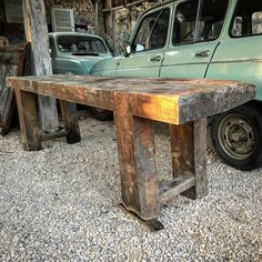 How To Antique Wood, Plank, Entryway Tables, Diy, Antiques, Instagram, Primitive, Bench, Design