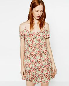 Image 2 of FLORAL CREPE DRESS from Zara