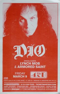 Dio Concert Poster https://www.facebook.com/FromTheWaybackMachine