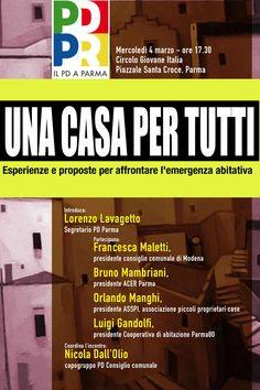 Una casa per tutti, incontro del PD di Parma sull'emergenza abitativa