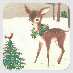 Christmas Deer, Christmas Animals, Christmas Greetings, Winter Christmas, Christmas Artwork, Father Christmas, All Things Christmas, Merry Christmas, Vintage Christmas Images
