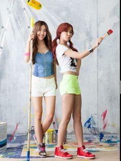 Crayon Pop cute maxim photo shoot. Exclusive photos and video. Ellin, Gum Mi, So Yul, Way and Cho A