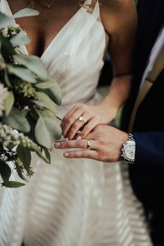 striped wedding dress - ring shot - St. Louis wedding photographers - Silver Oaks Chateau - non-traditional wedding - The Rowlands Photography and Filmmaking