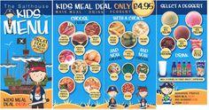 Kids Menu, Meal Deal, Main Meals, Food, Art, Kids Lunch Menu, Meal, Essen, Hoods