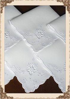 Organic Bedding and Mattress Store Linen Curtains, Linen Fabric, Linen Cupboard, Food Photography Props, Wedding Favor Bags, Cut Work, Linens And Lace, Vintage Linen, Fine Linens