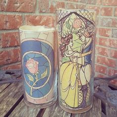 Disney candle Rose candle Beuaty and the Beast by VieveLaRein
