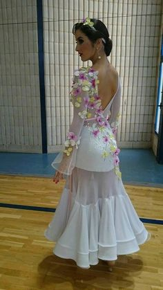 I would not wear this for ballroom, but it would make a cute fairy costume, just add wings.