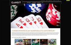 Gambit - responsive #Joomla template focused on #gaming, hotels and #casinos. Warp 7 #Framework .