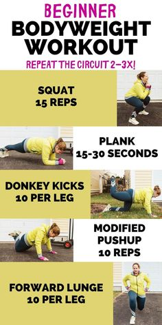 5 Best Bodyweight Exercises for Beginners (+ a Circuit Workout!)