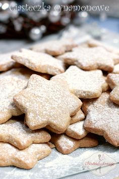 Pin by Katarzyna on Ciasteczka kruche Polish Cookies, Cinnamon Cookies, Polish Recipes, Polish Food, Christmas Baking, Christmas Cookies, Baked Goods, Baking Recipes, Sweet Recipes