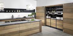 Houten kookeiland met betonnen aanrechtblad, koken als een sterrenkok Big Kitchen, Kitchen Design, New Homes, Dining Room, Home And Garden, Modern, House, Furniture, St Laurent