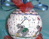 American Handmade English Smocked Ornament Baby by grandcruefarm