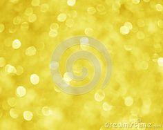 Xmas Yellow Gold Blur Background
