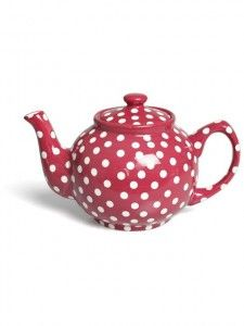 Red Spotty Teapot from HunkyDoryHome.