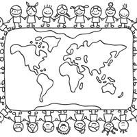 Small World Coloring Pages Christmas Ornament Coloring Page Lds Coloring Pages