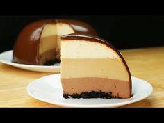 Chocolate Ripple Cheesecake - New ideas Easy Cake Recipes, Fall Recipes, Dessert Recipes, Sweet Desserts, No Bake Desserts, Bien Tasty, Reeses Cake, Chocolate Bowls, No Bake Treats